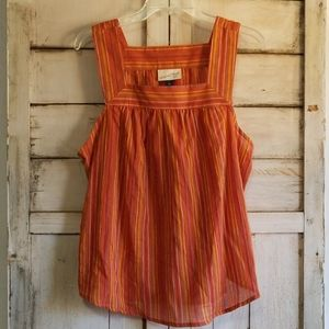 Universal Thread Orange Earth Tones Tank Top Lg
